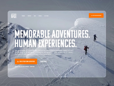 Adventure Base Web Concept Visual responsive website web design adventure travelling travel video bg video background responsive web design responsive ui motion animation website web