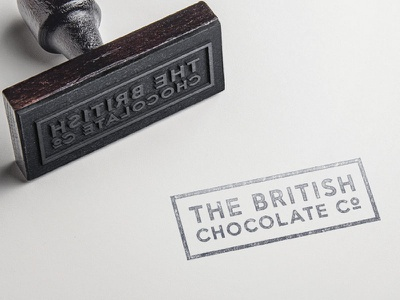 British Chocolate Company Brand brand branding stamp chocolate food logo