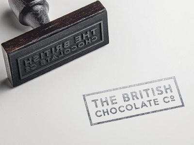 British Chocolate Company Brand brand branding stamp chocolate food logo