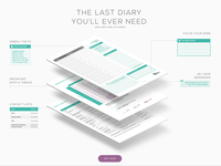 Diary Product Website Section