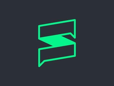 Social Media Agency Brand interact dialog speech green s logo branding brand social agency social media