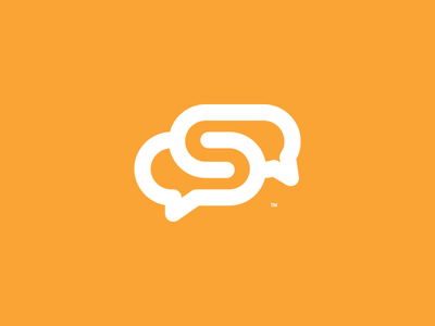 Social Media Agency Brand - v2 space negative lettermark speech agency social s logo interact dialog branding brand