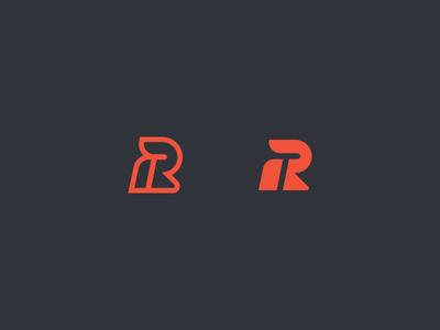 RT Brand Exploration logo brand rt t r