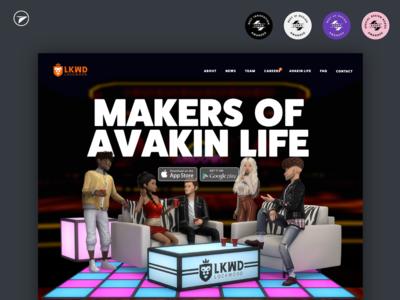 Lockwood Web Design Project team dark website animation app gaming game 3d ui ux web design web
