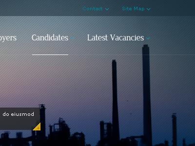 Industrial Recruitment Firm Navigation web corporate navigation bg ui website online industry blue pattern