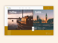 Travel Website Minimalistic