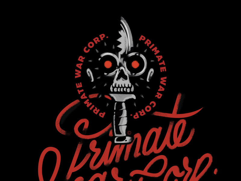 Primate: Military Knife Shop / Store Decoration