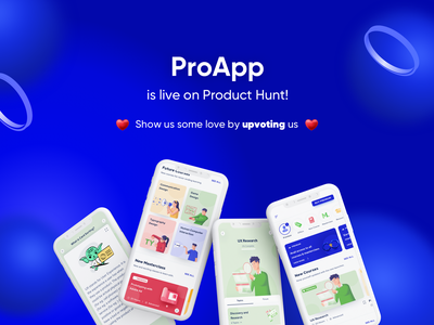 We're live on Product Hunt 🚀 app app design characters ux mobile illustration procreator user interface sketch producthunt product design