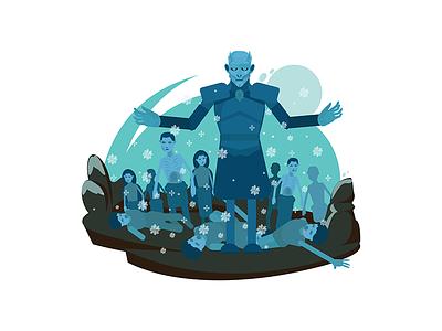 White Walker white walker game of throne modern khalessi illustrations got game of thrones