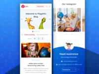 Blog Landing Page Design - Playshifu
