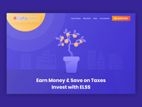 Landing Page Animation - Fintech
