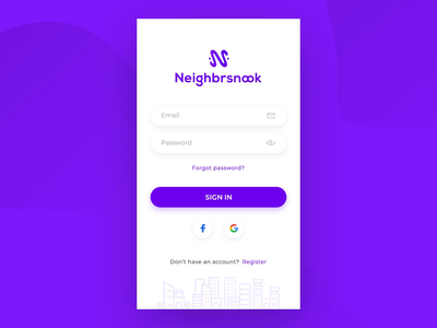 Neighbrsnook - Sign In Page