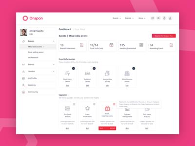 Dashboard UI - Onspon