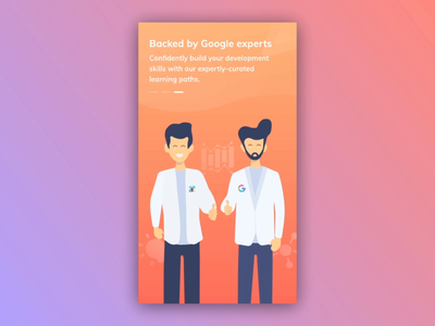 Onboarding Screens - Programming Hub character design user interface gradient mobile ux design aftereffects procreator learning app vector ui logo product design illustration illustrations programminghub programming animation onboarding