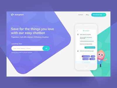 Home Page - EasyPlan mobile characters sketch user interface first fold procreator vector minimal website flat animation web app icon ux typography branding ui logo illustration