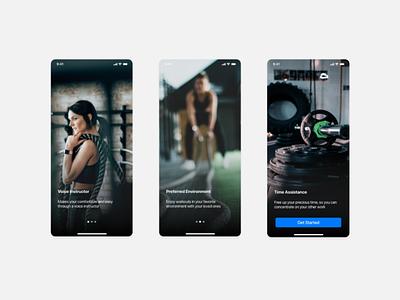 App Onboarding gym app sports sport illustration app design interface ux ui