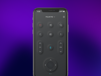 TV remote app tv remote design interface ux ui