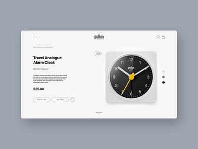 Braun Clocks clocks clock watch braun banner web interface ux ui
