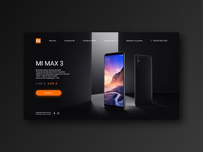 Xiaomi smartphone phone xiaomi design banner web interface app ux ui