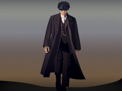 Tommy Shelby 2d illustrator flat gradients icon graphic design illustration peaky peaky blinders shelby tommy shelby tommy