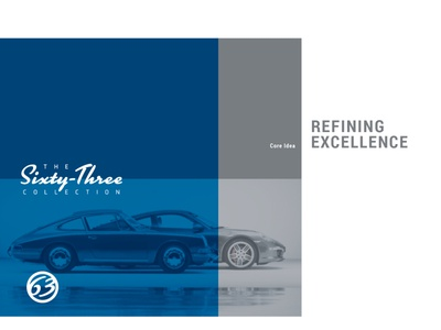 The Sixty-Three Collection logo wordmark branding design