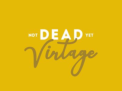Not Dead Yet Vintage Logo logo