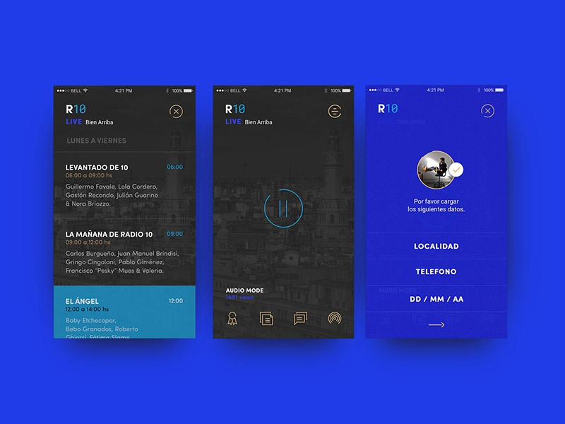 App Design For R10 Radio Station By Dift Co Collective Digital