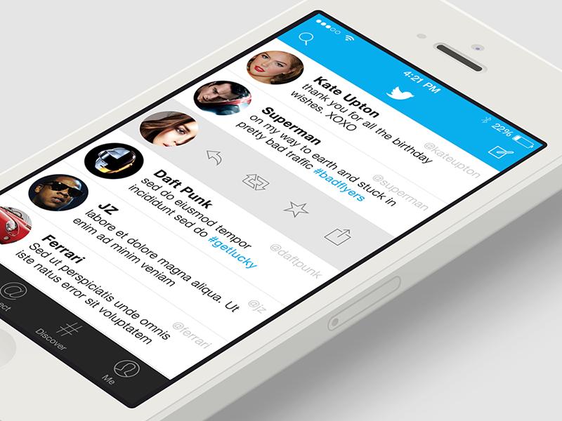 Twitter iOS7 twitter ios7 iphone ui