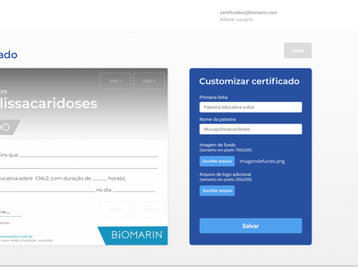 Template creation - Event certificates automation
