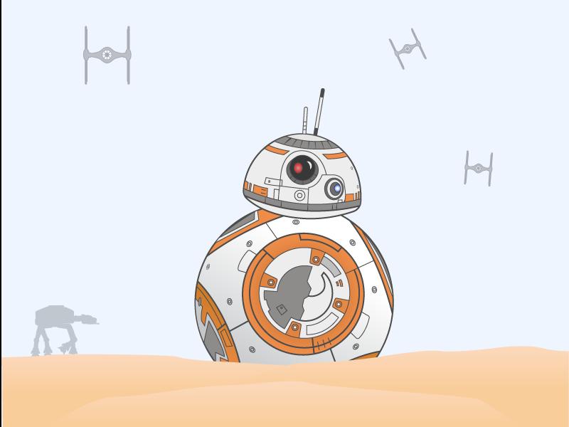 BB8 Illustration force awakens star force icon android illustration 2018 bb8