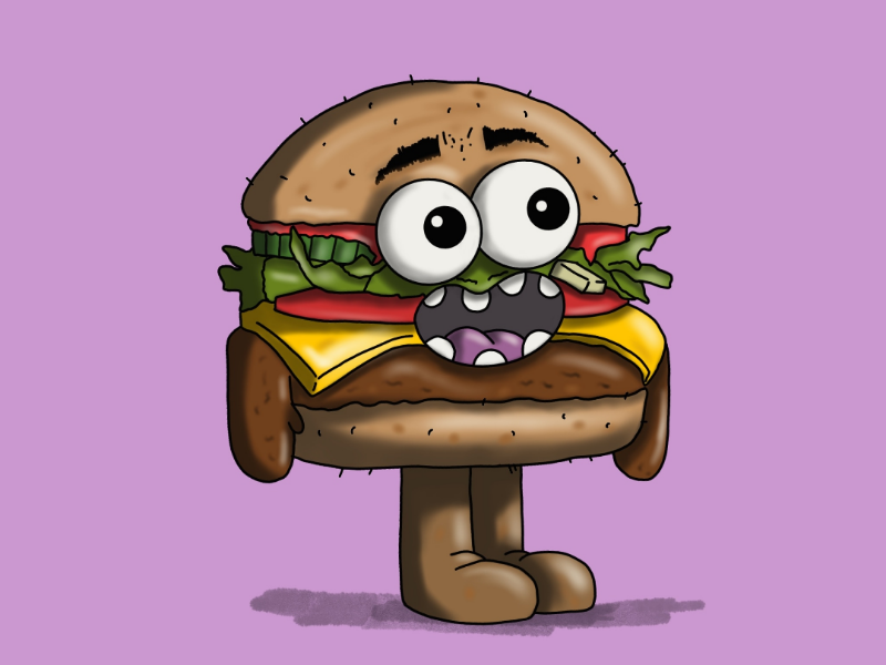 Borgur boy foodie design simple motion graphics artwork character design cartoon procreate animation art sketch drawing character snacks illustration food burger