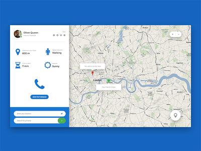 Location Tracker (Daily UI #020) 020 dailyui location tracker design graphic design photoshop ui ui design user interface user interface design web web design