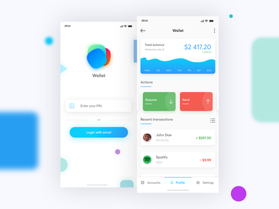 Online Wallet apple ios iphone application madewithadobexd xd adobexd finance wallet flat minimal app mobile user experience user interface uxui uiux ux ui