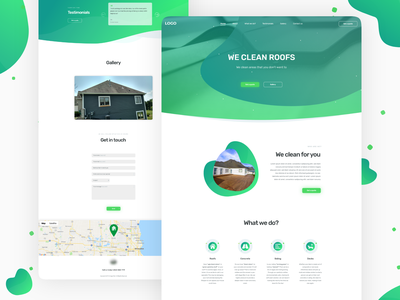 Cleaning Service - Landing page redesign app graphic design adobexd xd simple flat minimal visual design uiux user experience ux user interface design ui design web design web design user interface ui