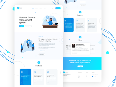 Finance Management website uxdesign uxui ui  ux uiux uidesign landing adobexd xd landingpage user experience user interface design ux ui design minimal web design web design user interface ui