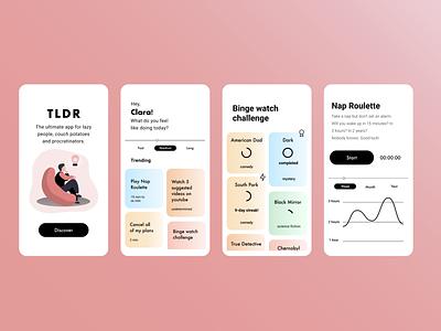 TLDR app design app designslices ui