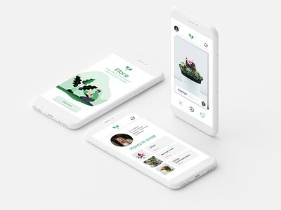 Flora plant app design designslices ui design ui
