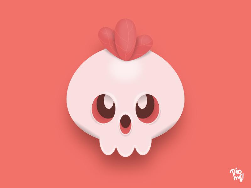 Trying Skeumorphism with Skull learn sculpt skull 3d skeumorphic skeuomorph branding design graphic design illustration
