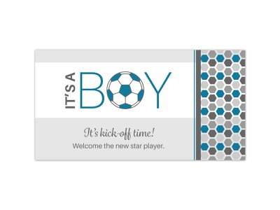 It's kick-off time! facebook cover socialmedia baby shower invite graphic design typography vector design designer graphic designers invitation graphics event graphics graphicdesign graphic designer soccer ball baby shower baby soccer