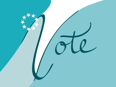 Cast Your Vote design vector typography graphic design applepencil ipad pro ipadpro adobe illustrator illustrator handlettering handletter calligraphy and lettering artist calligraphy vote2020 votes vote