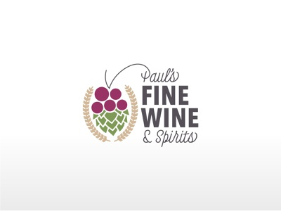 Paul's Fine Wine & Spirits Secondary Logo liquor wine illustrators graphic logotype logo design logodesign graphic design secondary logo brand brand identity branding design brand design branding branding and identity logo illustrator graphicdesign design vector