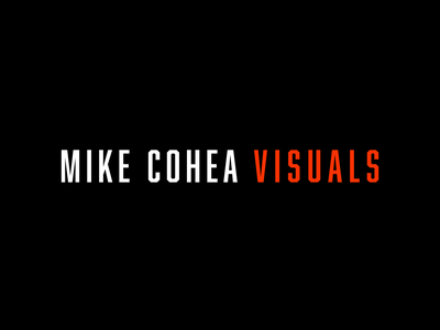 Mike Cohea Visuals Wordmark brand identity graphicdesign illustrator logo brand design branding and identity designer branding wordmark logodesign vector
