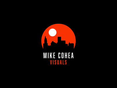 Mike Cohea Visuals Primary Logo city moon sun negative space logo negativespace negative space icon branding design logodesign brand identity brand design graphic design branding and identity logo design vector