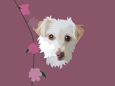 Harley the Rescue Portrait rescuedog mutt digital illustration digital digitalart drawing illustrations pet portrait animal pet dog portrait illustrator illustration designer graphic design graphicdesign design