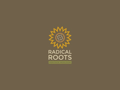 Radical Roots Vertical Logo sunflowers sunflower typography designer graphic design design graphicdesign vector branding concept branding and identity branding design logodesign concept brand concept branding logo farm