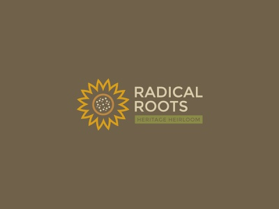 Radical Roots Horizontal Logo flower logo sunflower branding concept branding design logotype natural farm logo design brand design branding and identity typography designer graphic design graphicdesign design vector logodesign brand identity branding logo