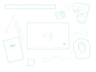 My Workspace personal personal work my brand branding and identity graphicdesign design line drawings line drawing line line art linework vector illustration illustrator wordpress passion planner gopro nikon