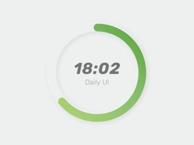Daily UI: #014 — Countdown Timer countdowntimer dailyui trend neumorphic neomorphism dropshadow skeumorphic 2020 trend 2020