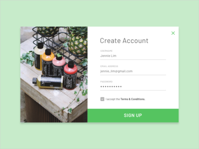 Daily UI: #001 — Sign Up daily ui user interface ui 2d design web ux form sign-up minimal concept daily