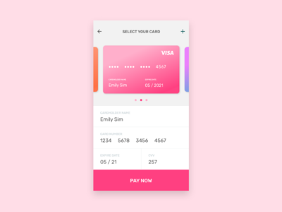 Daily UI: #002 — Credit Card gradient minimal flat 2d design daily ui credit card mobile ui ui daily